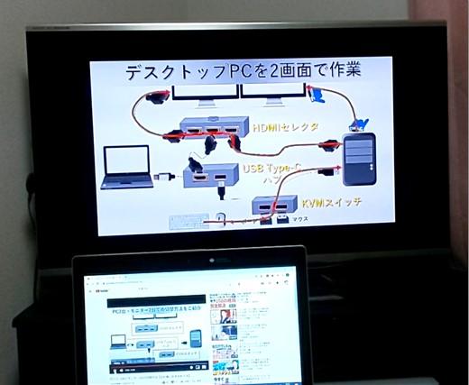 PCからYoutubeの動画をクロームキャストにキャストしてテレビで視聴