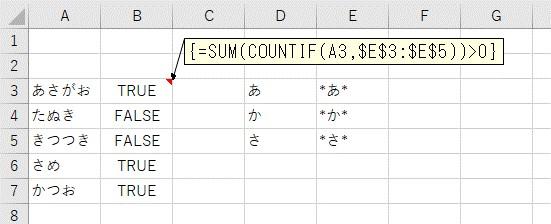 表の文字列を複数のキーワードで検索した結果