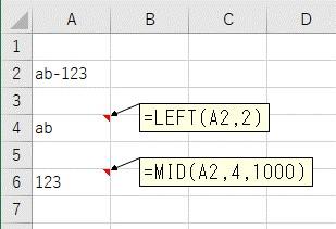 文字列を区切り文字で分割して抽出したい