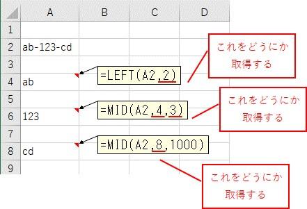 文字列を分割するのに取得する必要のある数値