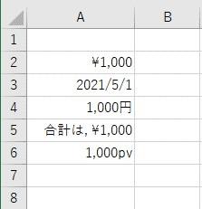 複数種類の表示形式を設定