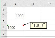 表示形式を「文字列」に変更したセルに貼り付け