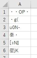 UTF-16 BEで保存したCSVファイルをExcelで開く