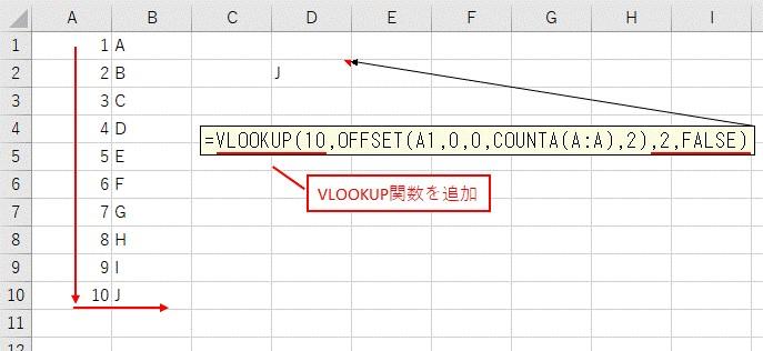 最終行までのセル範囲をVLOOKUP関数に組み合わせる