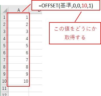 最終行の番号をCOUNTA関数で取得する