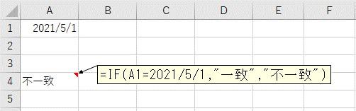 数式に直接、日付を入力するとうまく比較ができない