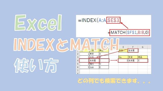 【Excel】INDEXとMATCHを組み合わせた使い方【表を自由に検索できる】