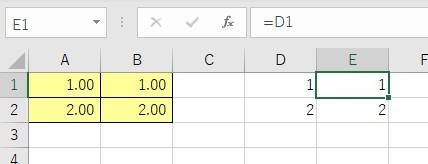 「数式」で貼り付けた結果