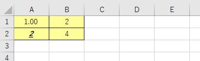 値や数式、書式をセルに入力
