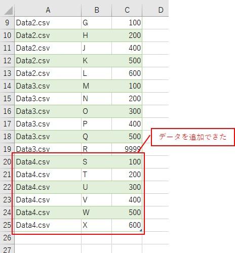 追加したファイルのデータを追加することができました