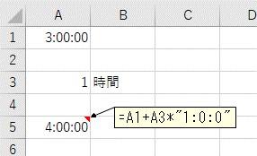 「時」単位で時間を足し算した結果