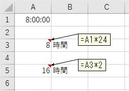 24を掛けて「時」単位に変換して掛け算
