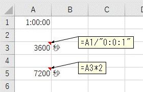 シリアル値を使って「秒」単位で掛け算をした結果