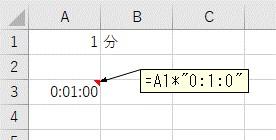「分」単位の数値を時間に変換