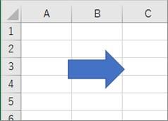 指定した図形を「右矢印」に変更した結果