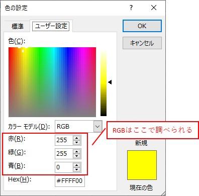 色は「RGB」を使うといい