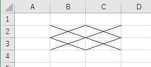 xlNoneを使って格子の罫線だけをクリア