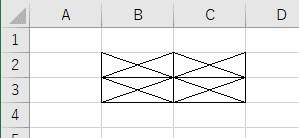 xlEdgeTopとxlNoneを使って上の罫線だけをクリア