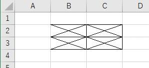 xlEdgeLeftとxlNoneを使って上の罫線だけをクリア