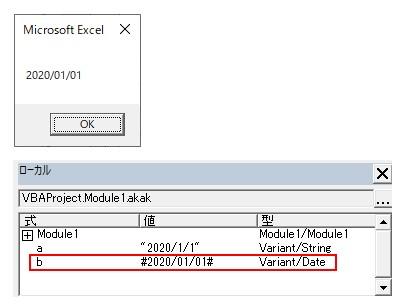 CDateを使って文字列の日付を日付型に変換した結果