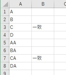 Or要素を使って指定文字列以外から始まる文字列を判定した結果