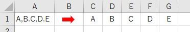複数の区切り文字が使われている場合にReplaceとSplitを使って分割した結果