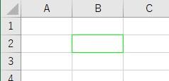 ColorIndexで罫線色を緑に設定した結果