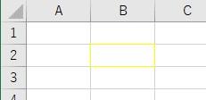 ColorIndexで罫線色を黄に設定した結果