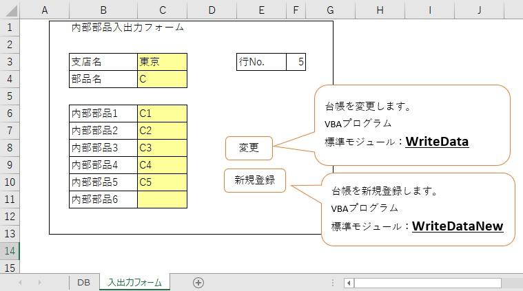 Excel VBAを活用した入出力フォーム