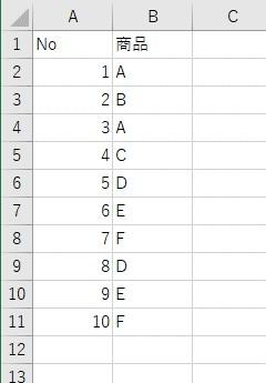 重複する表を用意する