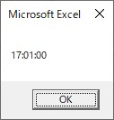Formatを使って数値4桁を日付型の時間に変換した結果
