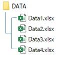 取得するファイル