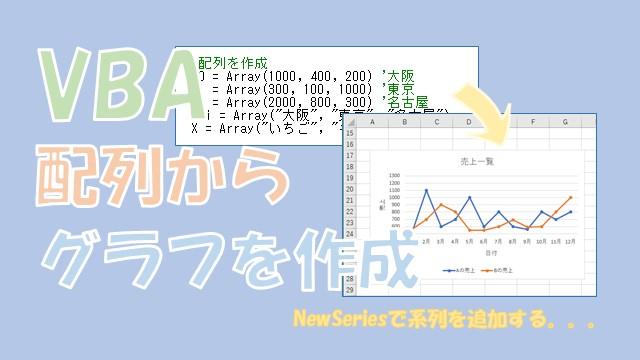 【VBA】配列からグラフを作成する【NewSeriesを使います】