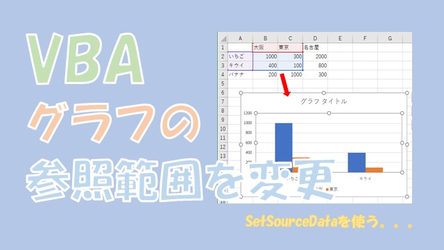 【VBA】グラフの参照範囲を変更する【SetSourceDataを使います】
