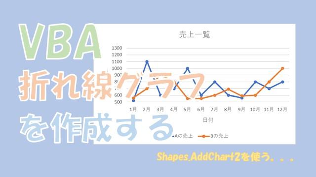 【VBA】折れ線のグラフを作成する【Shapes.AddChart2を使います】