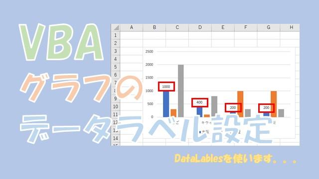 【VBA】グラフのデータラベルを設定する【HasDataLabelsを使います】