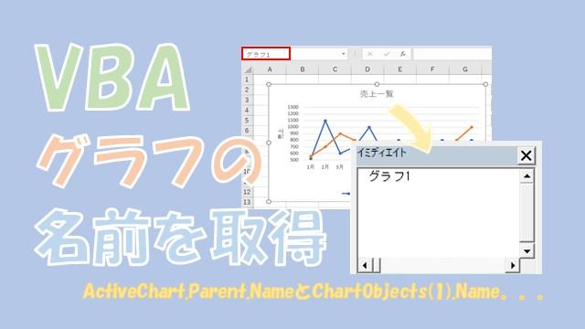 【VBA】グラフの名前の取得と設定をする【Nameを使います】