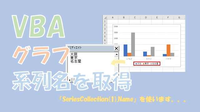【VBA】グラフの系列名を取得する【Nameを使います】