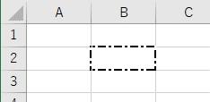 罫線の種類を1点鎖線中サイズに設定した結果