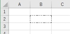 罫線の種類を2点鎖線に設定した結果