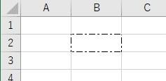 罫線の種類を1点鎖線に設定した結果