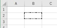 罫線の種類を2点鎖線中サイズに設定した結果