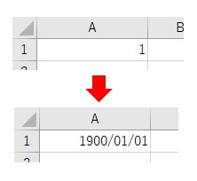 表示形式をNumberFormatLocalで西暦の日付にした結果