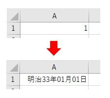 表示形式をNumberFormatLocalで和暦にした結果