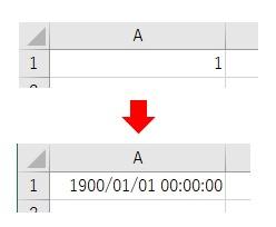 表示形式をNumberFormatLocalで日付に時刻をつけた結果