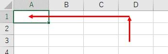 Offsetを使って、Cellsのセル範囲を戻した結果