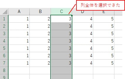 Columnsで3列目を選択した結果