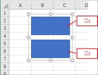 グループ化した図形の中の図形の名前