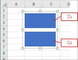 グループ化した図形の中の図形