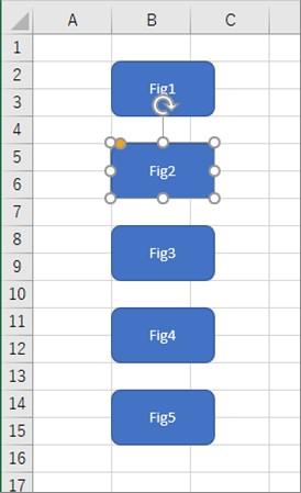 テキストに「2」が含まれる図形だけが選択される